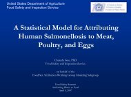Salmonella - Food  Safety and Inspection Service
