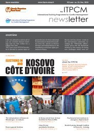 ELECTIONS IN KOSOVO AND COTE D'IVOIRE - December 2010