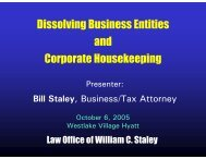 Dissolving Business Entities and Corporate Housekeeping