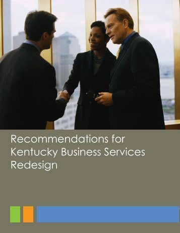 Recommendations for Kentucky Business Services Redesign