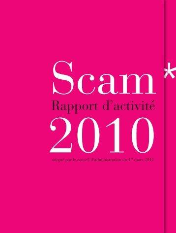 rapport 2010 présenté à l'AGO du 1er juin 2011 - Scam