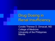 Drug Dosing in Renal Insufficiency - Philippine College of Physicians