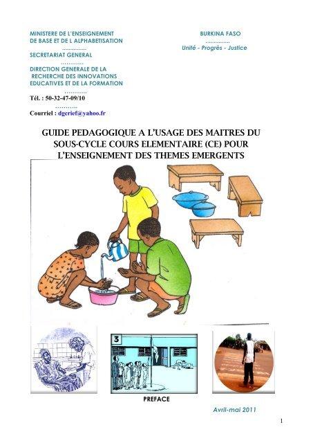 Guide Pedagogique A L Usage Des Maitres Du Wash In Schools