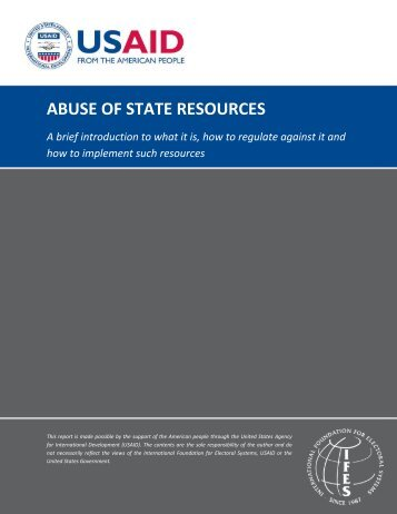 ABUSE OF STATE RESOURCES - IFES