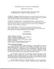 Public Records Ordinance - Okanogan County