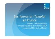 Les jeunes et l'emploi en France - Injep