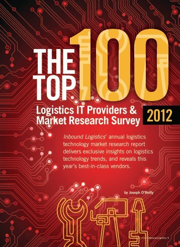 Inbound Logsitics | Top 100 Logistics IT Providers | Digital Edition