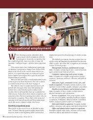 Occupational Employment - Bureau of Labor Statistics