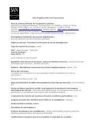 Avis d'appel public à la concurrence - Agglomération de Marne-la ...