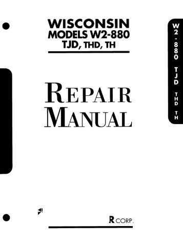 Wisconsin Tjd repair Manual