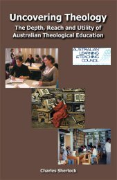 Uncovering Theology - Office for Learning and Teaching