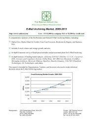 E-Mail Archiving Market, 2009-2013 - The Radicati Group, Inc.