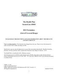 The Health Plan SecureCare HMO 2013 Formulary (List of Covered ...