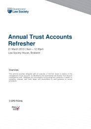 Annual Trust Accounts Refresher - Queensland Law Society