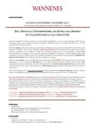 02-Comunicato Stampa Aste Wannenes novembre e dicembre 2011