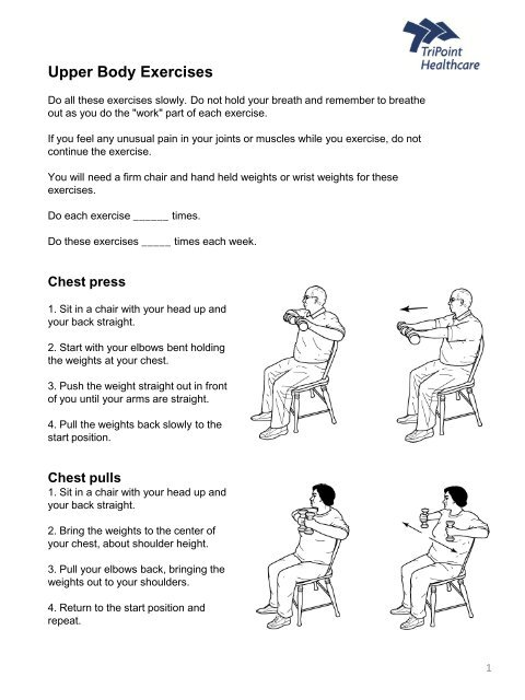 Upper Extremity Exercise2 pdf - TriPoint Healthcare