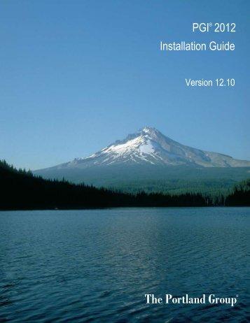 PGI Installation Guide - The Portland Group
