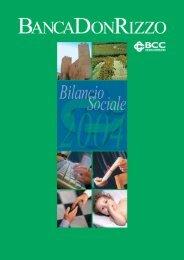 Scarica il bilancio sociale 2004 - Banca Don Rizzo