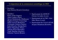 Composition de la commission scientifique en 2005 - SRLF