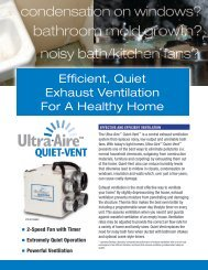 Ultra-Aire QUIET-VENT Spec Sheet - Therma-Stor Products