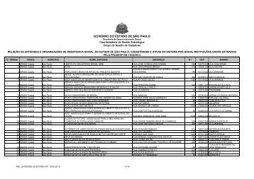 REL_ENTIDADE 02-2013 - Secretaria de Desenvolvimento Social ...