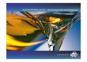 in Mio - Fuchs Petrolub AG