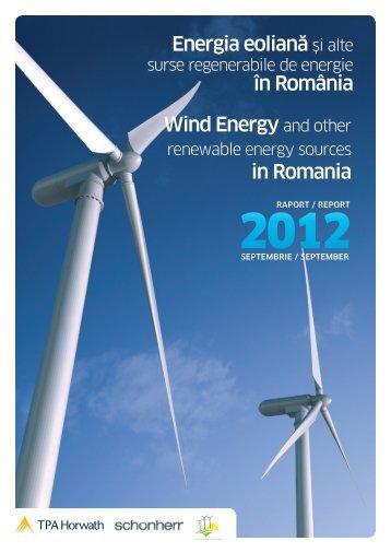 Energia eoliană şi alte în România Wind Energy ... - Energy Tomorrow