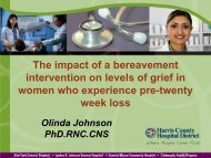 The impact of a bereavement intervention on levels of grief ... - IUPUI