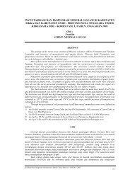 Inventarisasi Dan Eksplorasi Mineral Logam Di Kabupaten Sikka