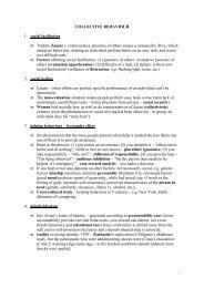 COLLECTIVE BEHAVIOUR 1. social facilitation ϖ Triplett, Zajonc ...