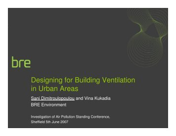 Designing for Building Ventilation in Urban Areas - IAPSC