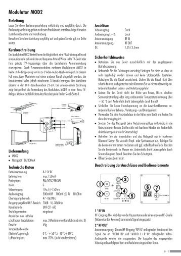 modulator mod2 indexa