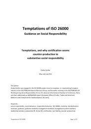 Temptations of ISO 26000 Guidance on Social Responsibility ...