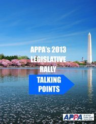 talking points - American Public Power Association