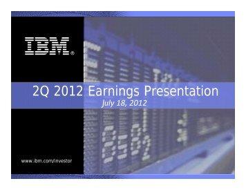 2Q 2012 Earnings Presentation - IBM