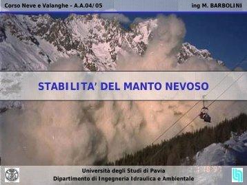 LEZIONE 2 - 9 marzo 2005 - Università degli Studi di Pavia