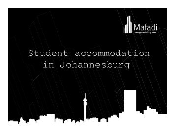 Student accommodation in Johannesburg - Plusto.com