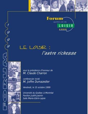 Document PDF - Conseil québécois du loisir