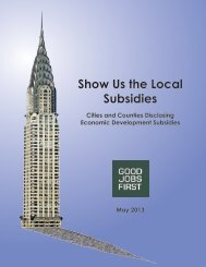 Show Us the Local Subsidies - Good Jobs First