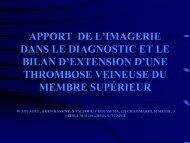 apport de l'imagerie dans le diagnostic et le bilan d'extension d'une ...