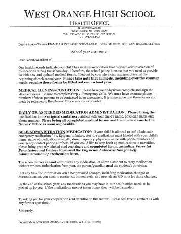 Seizure Action Medication Forms