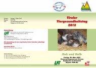 Tiroler Tiergesundheitstag 2012 - Braunvieh Austria