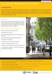 LA VILLE DES PROXIMITES ET DES ACCES - Grenoble