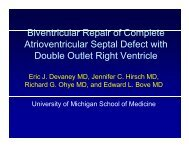 Biventricular Repair of Complete Atrioventricular Septal Defect with ...