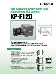 High resolution progressive scan monochrome CCD camera