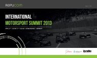 intErnational Motorsport suMMit 2013 - Repucom