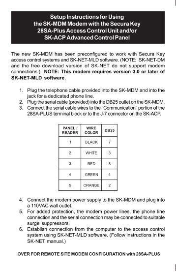 radio key acirc reg rk wl installation instructions secura key setup instructions for using the sk mdm modem secura key