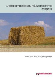 Stačiakampių šiaudų ryšulių džiovinimo įrenginys - Kongskilde