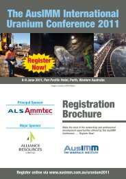 The AusIMM International Uranium Conference 2011 - Australasian ...