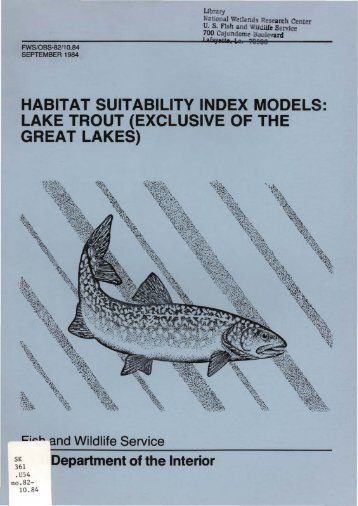 Lake Trout - USGS National Wetlands Research Center